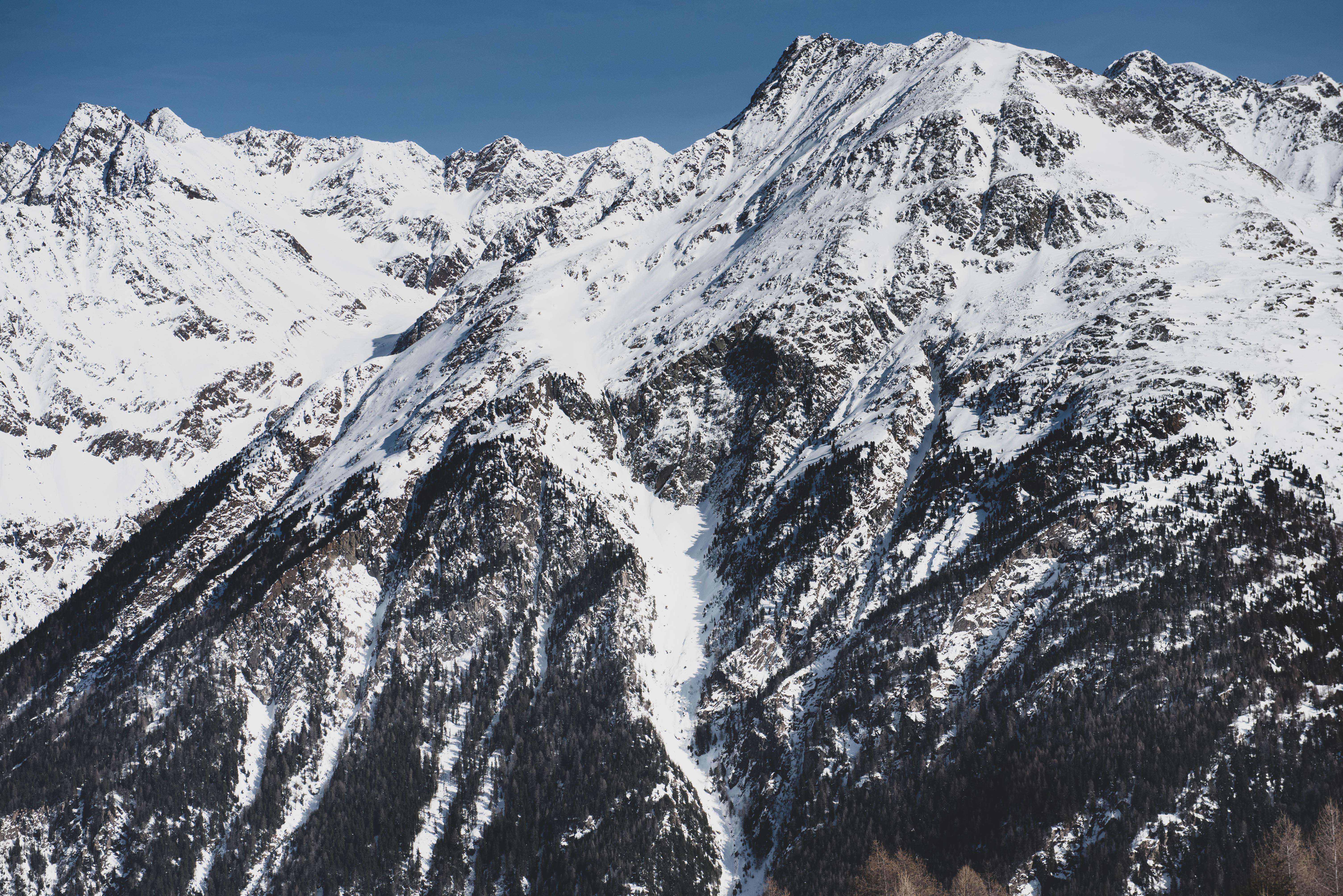 veduta delle alpi austriache