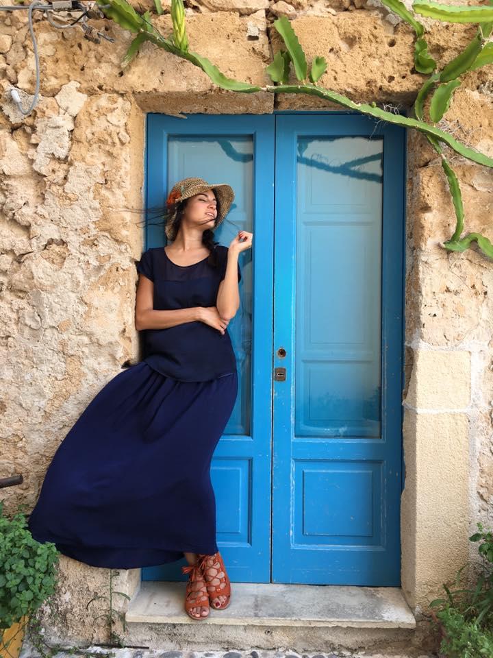 Lavinia Guglielman in tipica casa Siciliana
