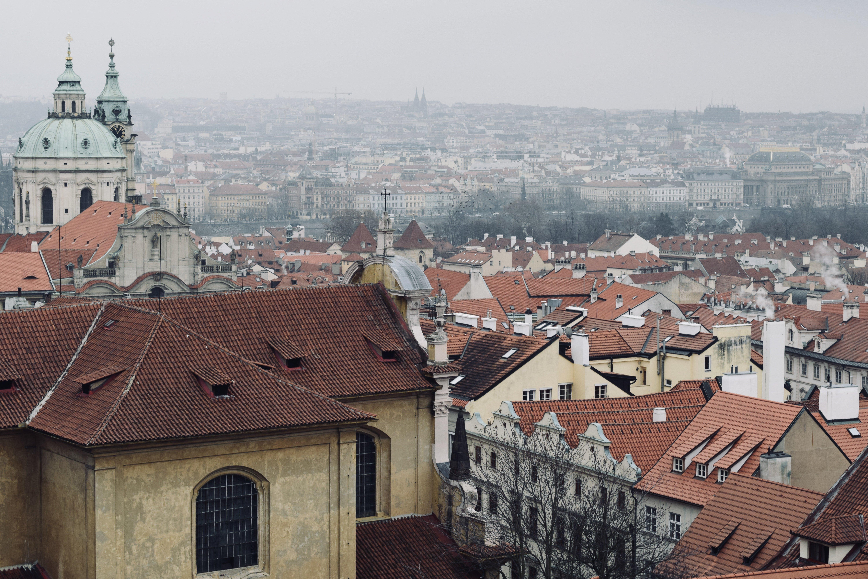 Vista dall'alto della città di Praga